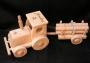 Traktor hračka pro děti s textem