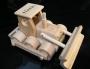 Buldozer s textem hračka