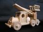 Plošinové dřevěné auto pro děti.