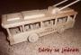 Dřevěný trolejbus se jménem