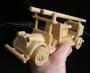 Hasičské vozidlo - dřevěné hračky