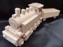 Parní lokomotiva ze dřeva hračka