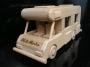 Karavan k narozeninám dřevěný dárek hračka