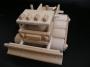 Sněžná rolba, dřevěná hračka