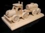 Dárek vůz cisterna, dřevěná hračka na podstavě
