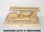 Hasičské auto dřevěné hračky dárky