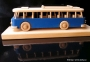Autobus modrý dárek s  podstavou