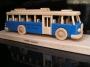 Modrý autobus dárek hračka k narozeninám