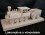 Parní lokomotiva na podstavci