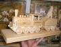 Parní lokomotiva na podstavci s věnováním
