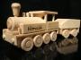 Dřevěné hračky lokomotiva