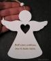 Andělé citáty, dřevěná závěsná dekorace