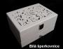 Šperkvnice dřevěné bílé
