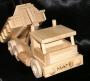 Dřevěné nákladní autíčko se jménem dítěte na přání
